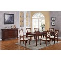 Riverside Furniture Windward Bay 7 Piece Traditional Table and XX-Back Chair Set