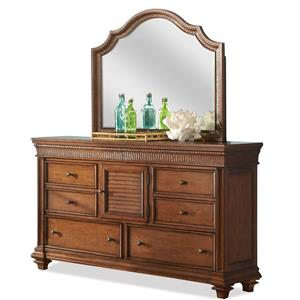 Riverside Furniture Windward Bay Dresser & Mirror Set
