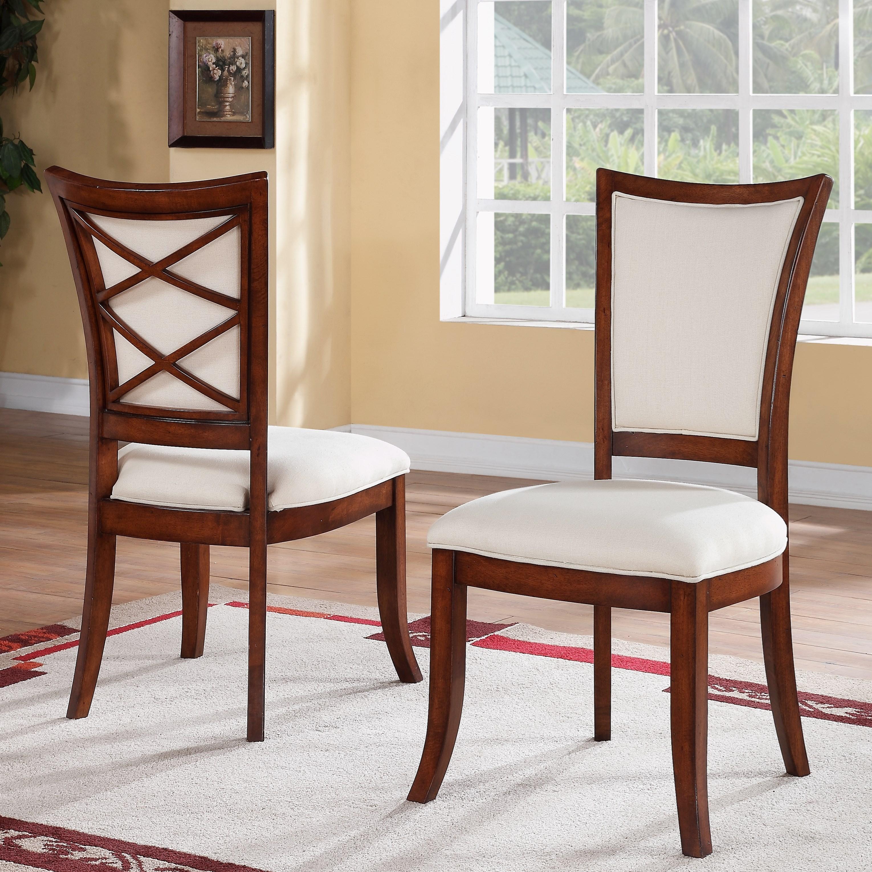Neo Renaissance Traditional Formal Dining Upholstered Side: Riverside Furniture Windward Bay XX-Back Upholstered Side