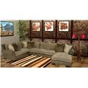 Reeds Trading Company 3000 3 Piece Sectional - Item Number: 3000-AL Sofa+Raf Chaise+ Laf Tux
