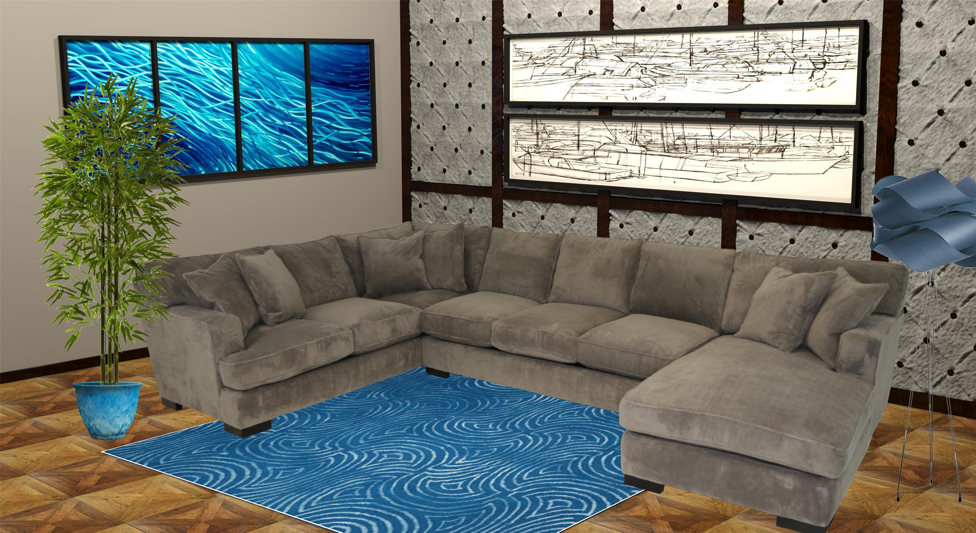 Reeds Trading Company 4000 3 Piece Sectional - Item Number: 4000-Al Sofa+Raf Chaise+Laf Tux
