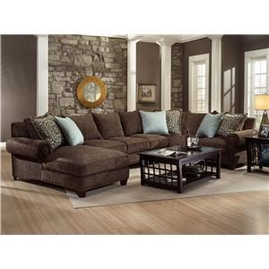 3 Piece Rolled Arm Sectional
