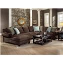 Reeds Trading Company 9000 Sectional Sofa - Item Number: 9000A LAF Chaise-AL Sofa-RAF Tux