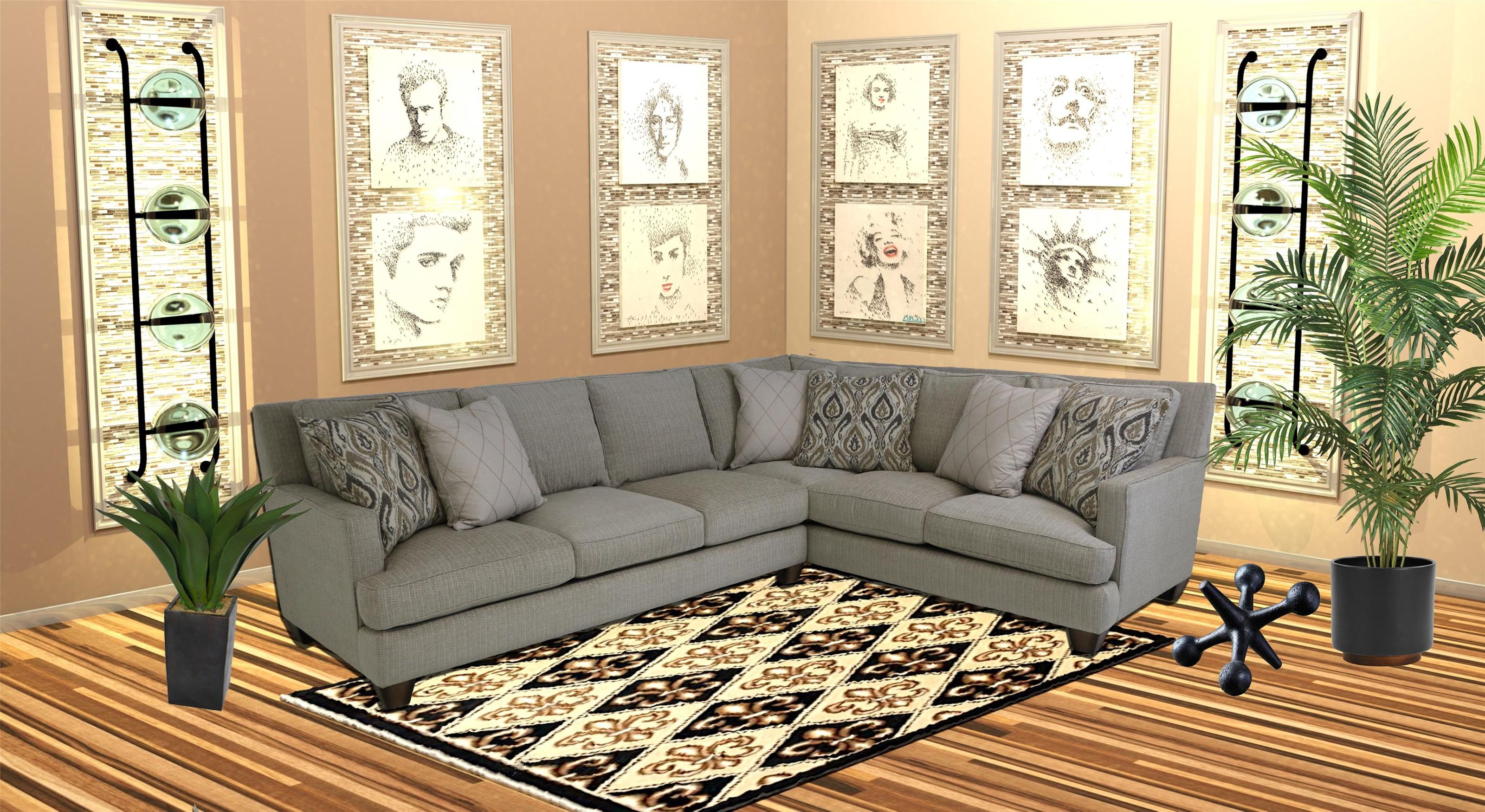 Reeds Trading Company 9500 2 Piece Sectional Sofa - Item Number: 9500-Laf Sofa+Raf Tux