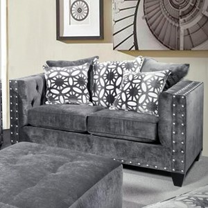Del Sol Exclusive Roxanne by Robert Michael Upholstered Loveseat