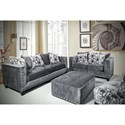 Del Sol Exclusive Roxanne by Robert Michael Upholstered Loveseat with Track Arms
