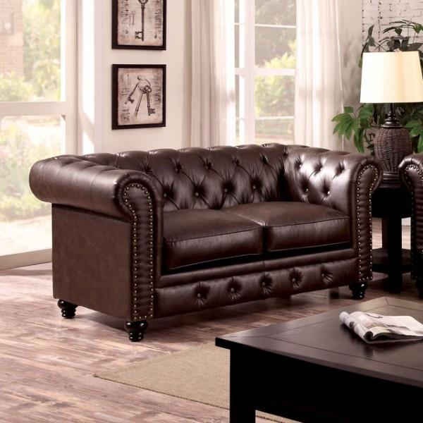 Furniture of America / Import Direct Stanford Love Seat - Item Number: CM6269BR-LV