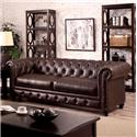 Furniture of America / Import Direct Stanford Stanford Brown Leather Sofa
