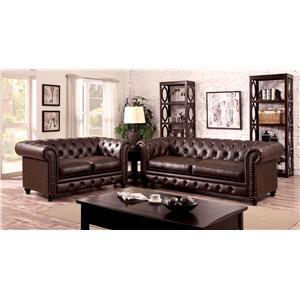 Furniture Of America / Import Direct Stanford Sofa U0026 Love Seat