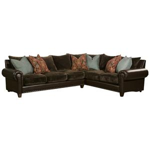 Robert Michael Utah Traditional Styled Sectional Sofa with ...