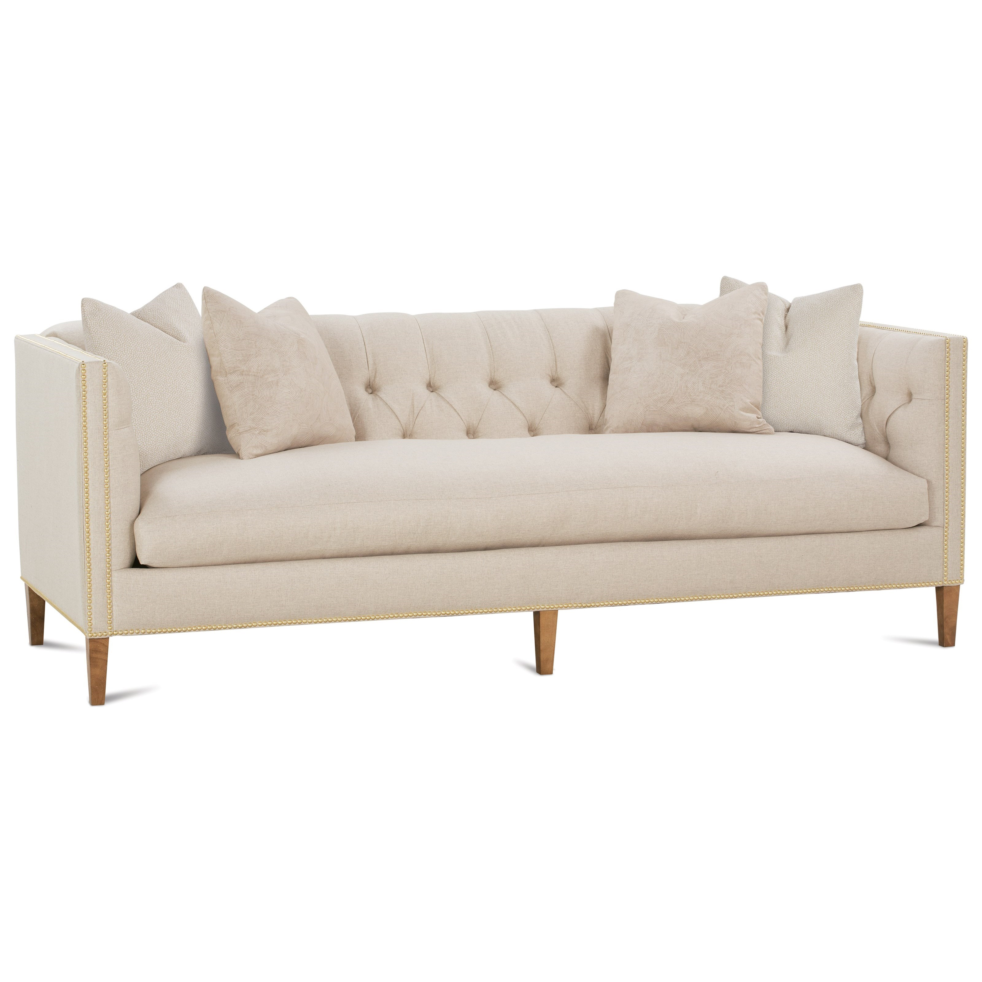 Brette Tuxedo Arm Sofa by Robin Bruce at Saugerties Furniture Mart