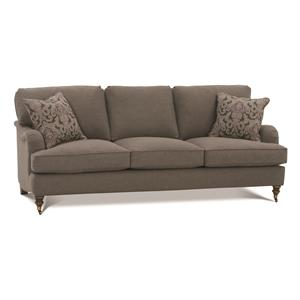 Robin Bruce Brooke 3-Cushion Sofa with Castered Turned Feet