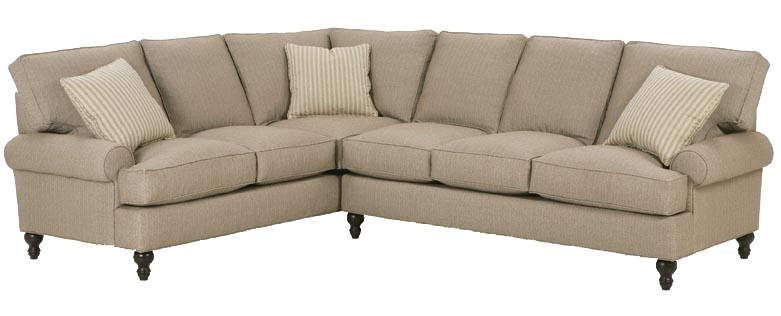Rb By Rowe Cindy Corner Sectional Sofa With Round Arms And