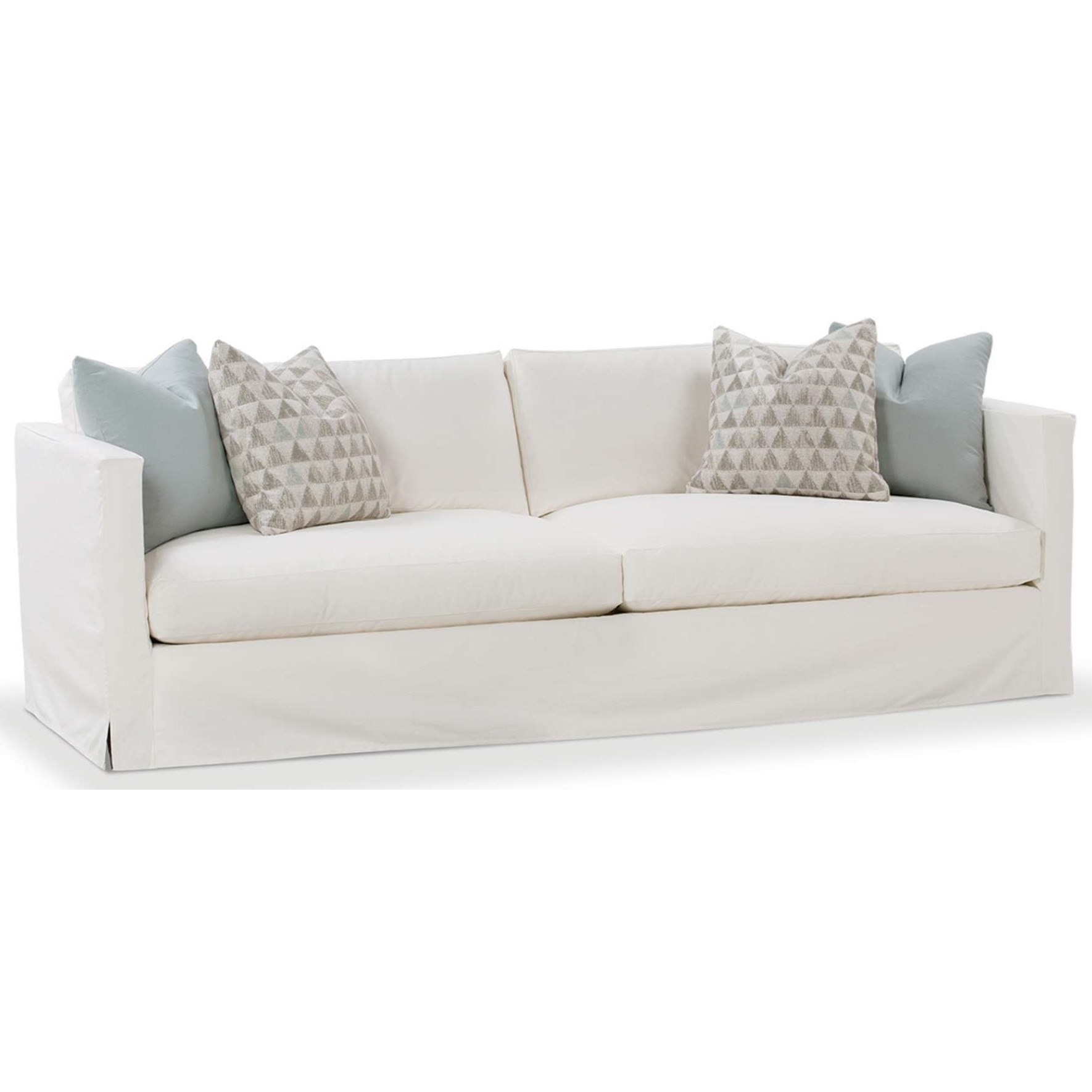 robin bruce dolly 84 u0026quot  slip cover sofa with 2 seat cushions