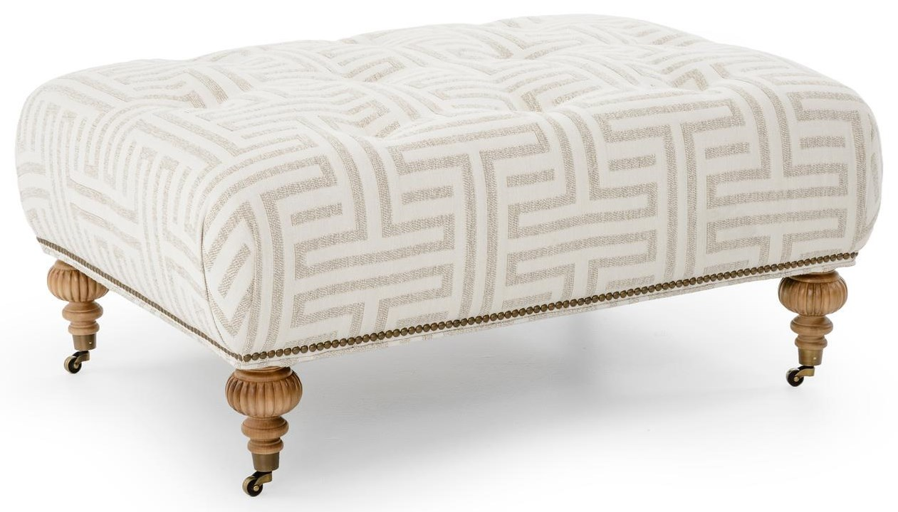 Pallenburg Upholstered Ottoman by Robin Bruce at Baer's Furniture