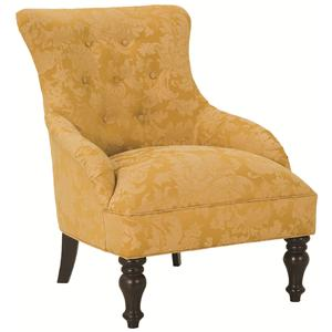 Accent Chairs Birkin Tufted Back Accent Chair with Low Slope Arms by Robin Bruce