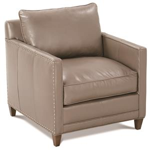 Springfield Transitional Chair with Nailhead Trim by Robin Bruce