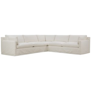 Slip Covered Sectional