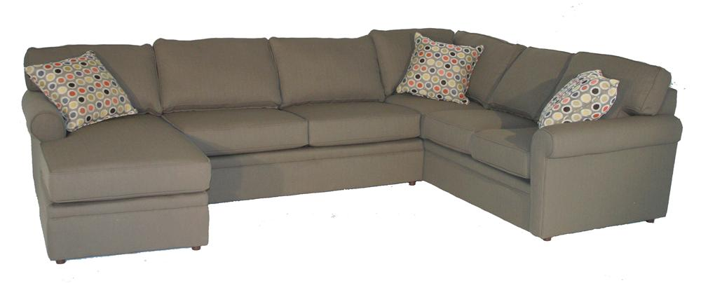 Brentwood Rolled Arm Sectional by Rowe at Baer's Furniture