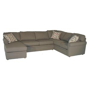 Rowe Brentwood Rolled Arm Sectional