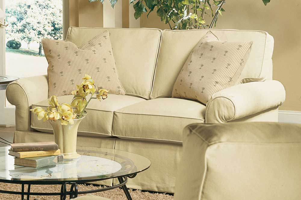 Hermitage Upholstered Two Seat Loveseat By Rowe