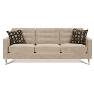 Rowe Abbott  Three Cushion Sofa with ChromeLegs
