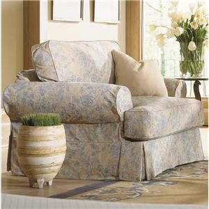 Rowe Addison  Traditional Chair With Slipcover