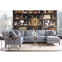 Rowe Andee 5 Seat Sectional - Item Number: P390-118+041+111-VR302-52