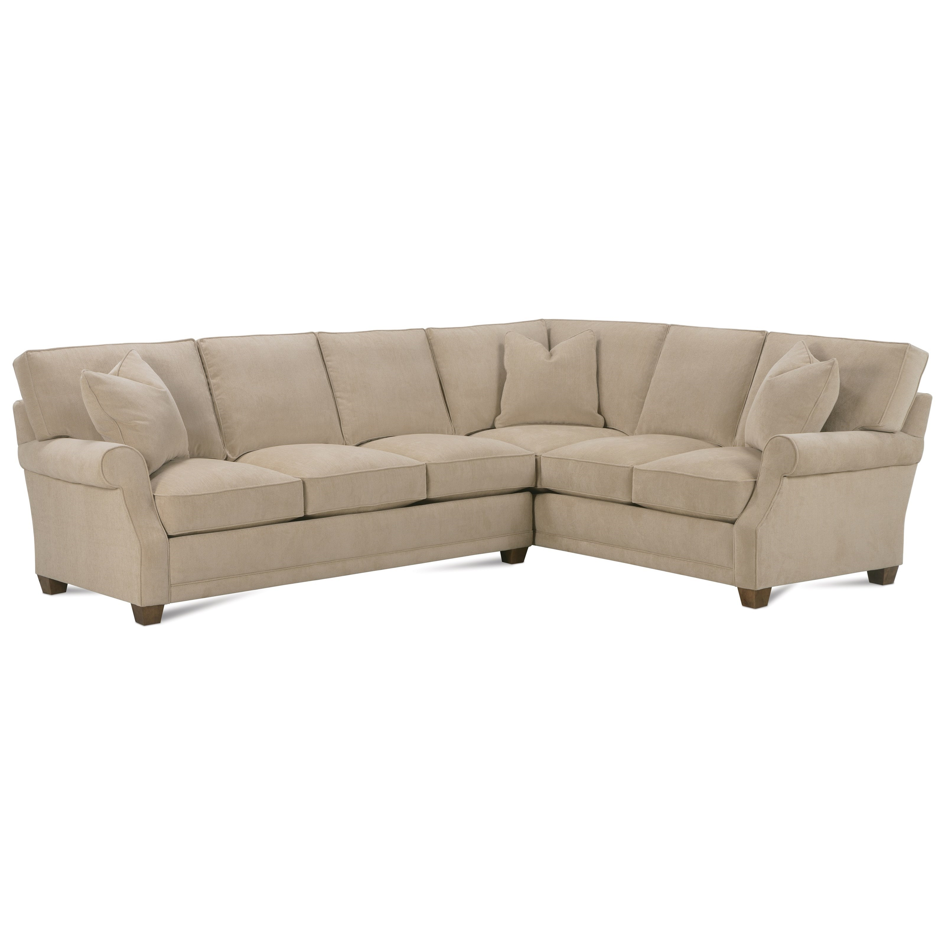 Rowe Baker Transitional Sectional Sofa Steger 39 S Furniture Sectional Sofas