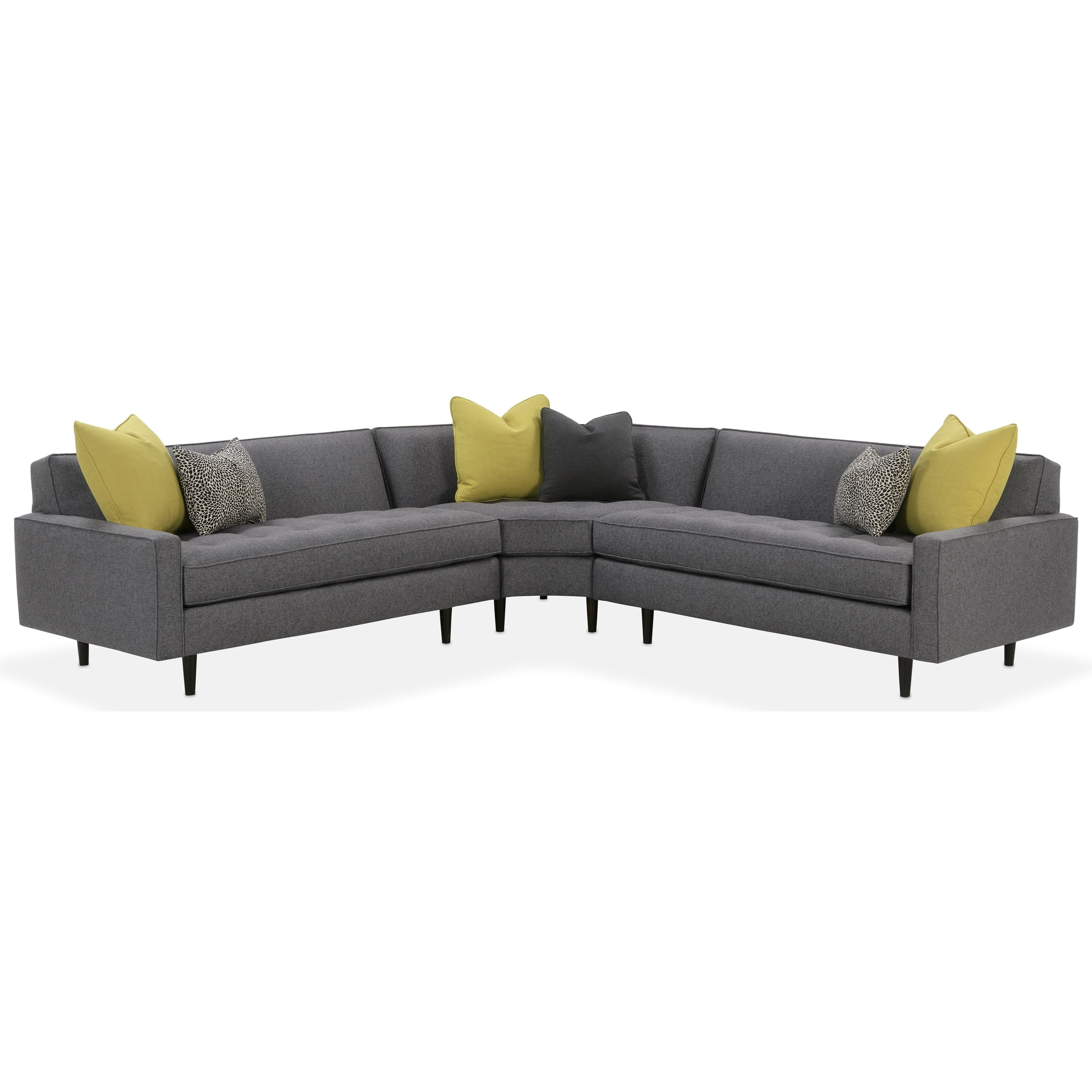 Brady  Contemporary Sectional by Rowe at Baer's Furniture