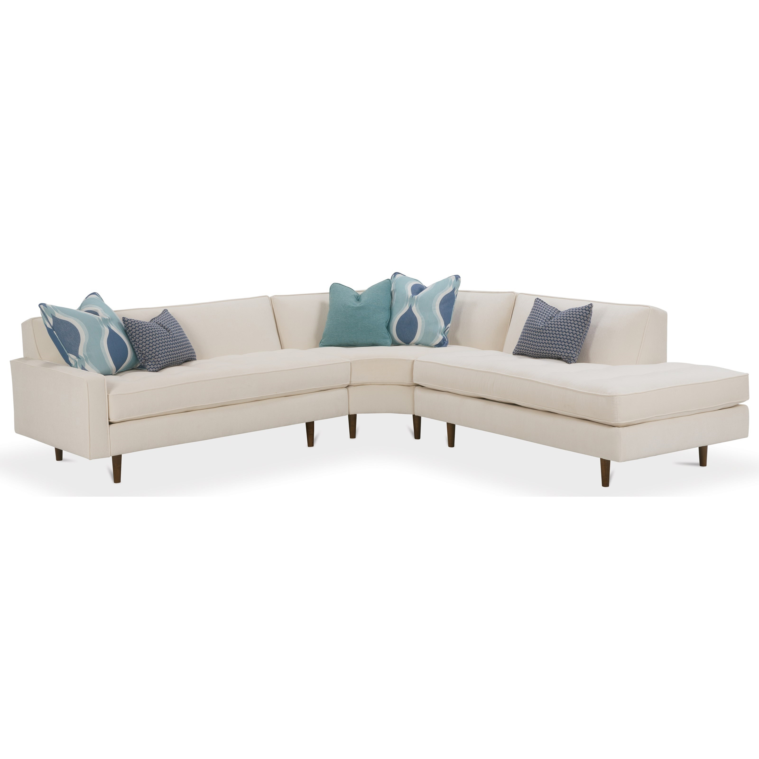 Rowe Brady Contemporary 3 Piece Sectional Sofa Becker Furniture