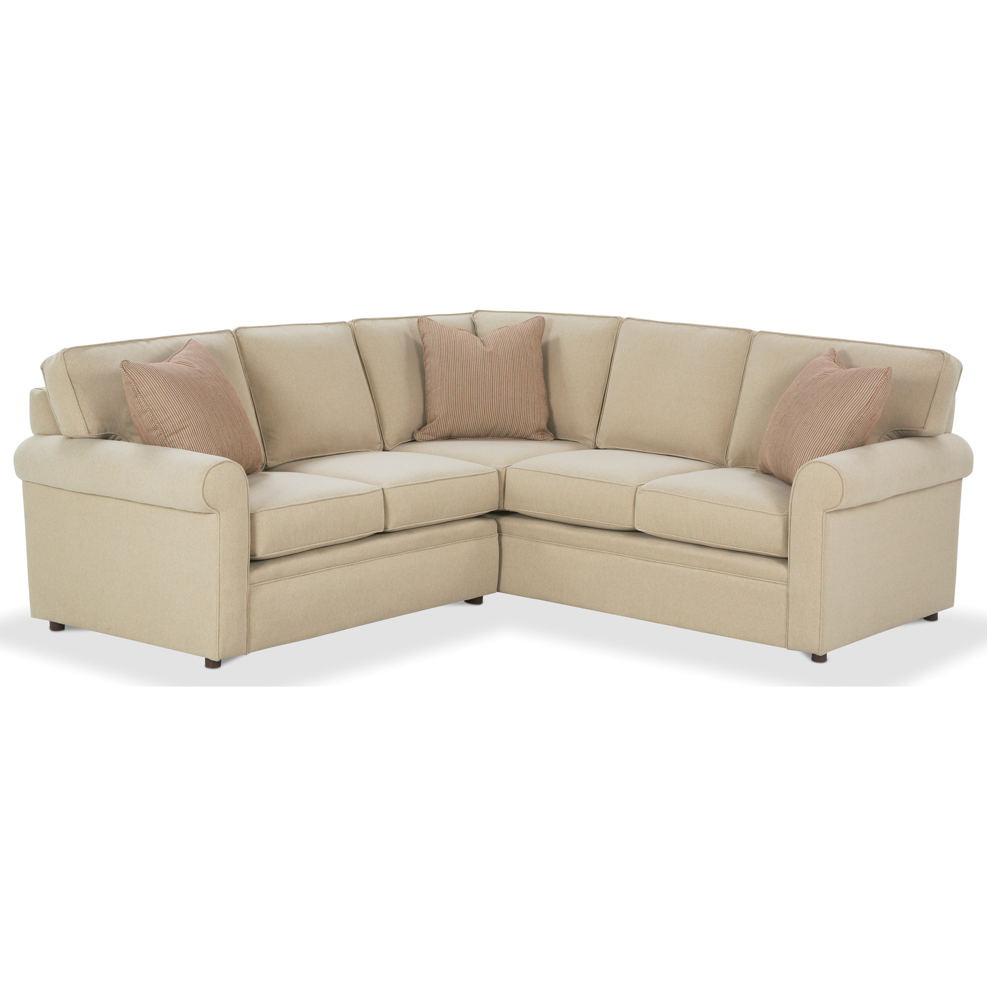 Rowe Brentwood Rolled Arm Sectional Sofa Johnny Janosik Sectional Sofas