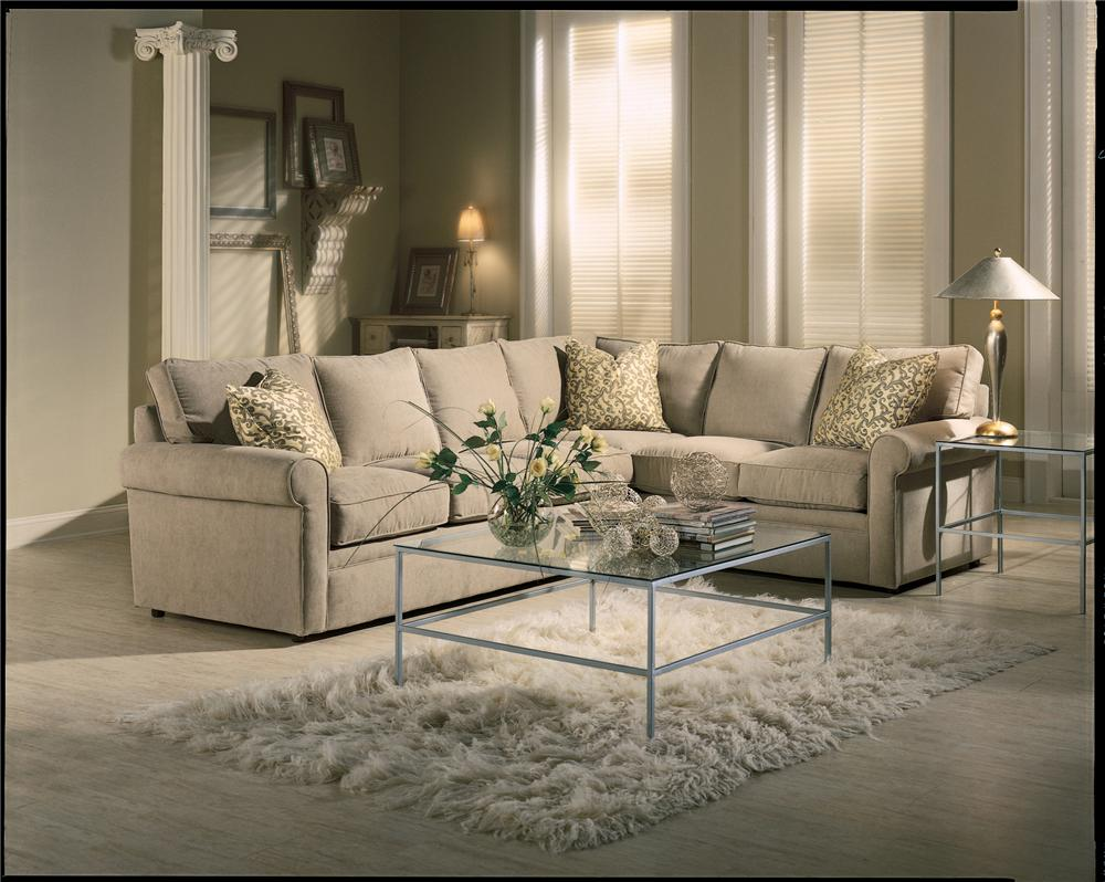 Merveilleux Brentwood Rolled Arm Sectional Sofa By Rowe