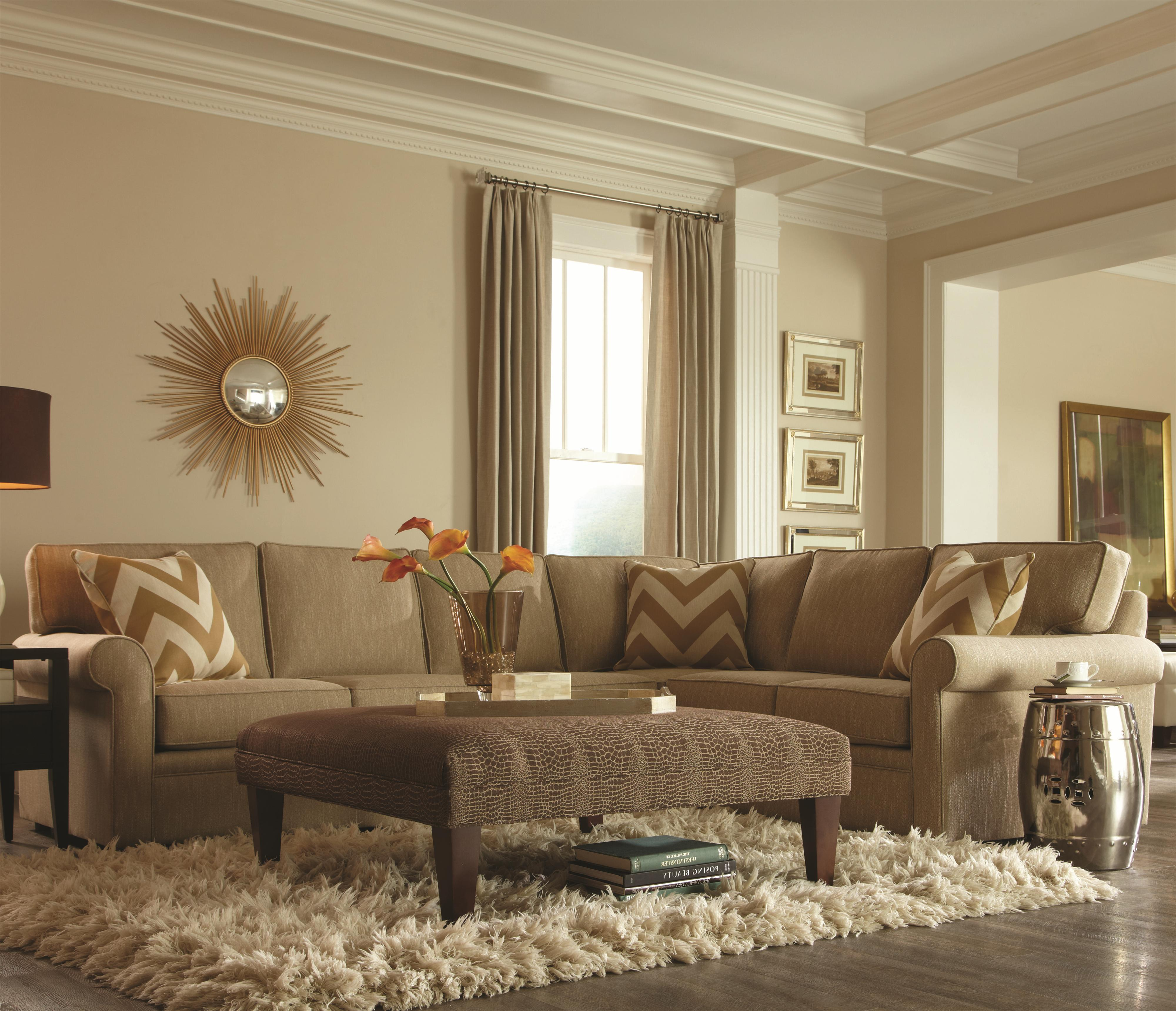 Rowe Brentwood Transitional L Shaped Sectional With Rolled Arms   AHFA   Sofa  Sectional Dealer Locator