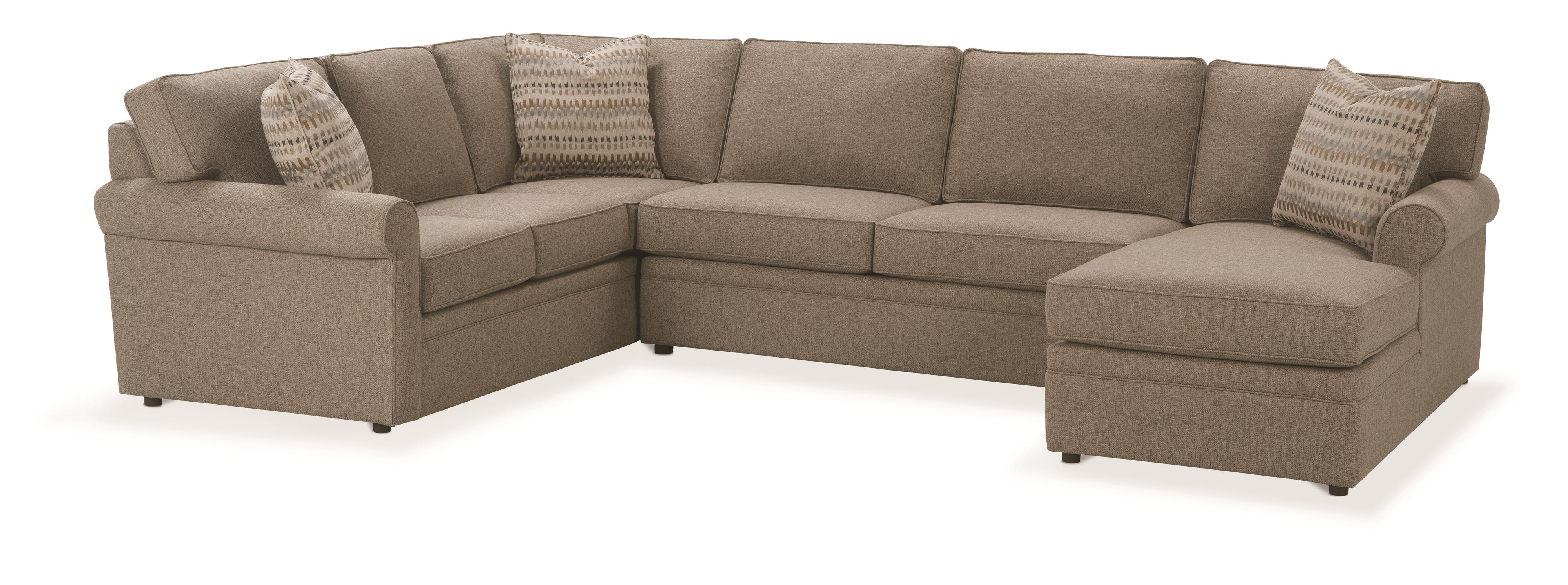 Rowe Brentwood Sectional Sofa - Item Number: 9258-RSE+9254+9251C-LSC-19119-89