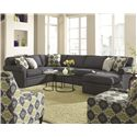 Rowe Brentwood Sectional Sofa - Item Number: 9258-RSE+9254-000+9251C-LSC