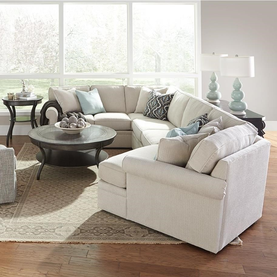 Rowe Brentwood Transitional Cuddler Sectional Sofa with ...