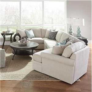 Rowe Brentwood Transitional Cuddler Sectional Sofa