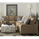 Rowe My Style Traditional Sectional Sofa - Item Number: BE200-K-118+117-14637-65