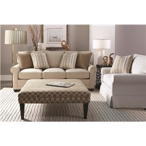Rowe My Style Transitional Stationary Sofa