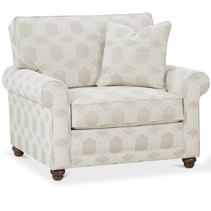 My Style I Customizable Chair and a Half by Rowe at Baer's Furniture
