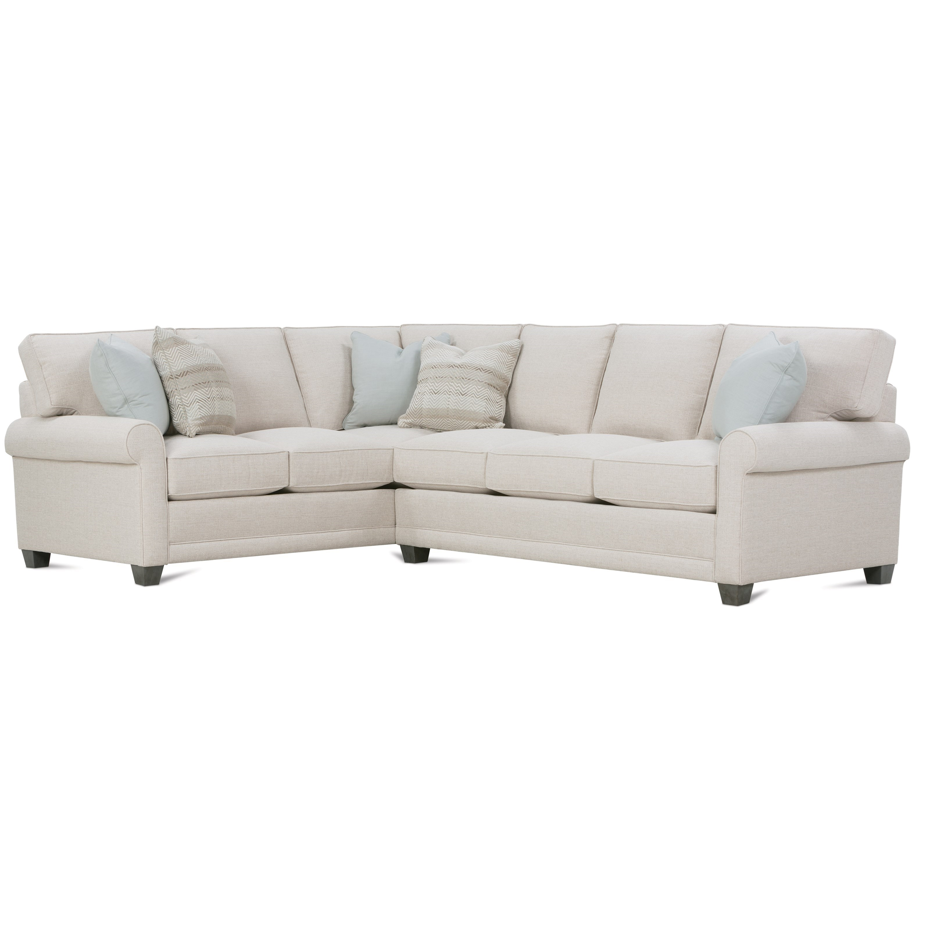 Rowe Selections I Customizable Sectional Sofa With Rolled
