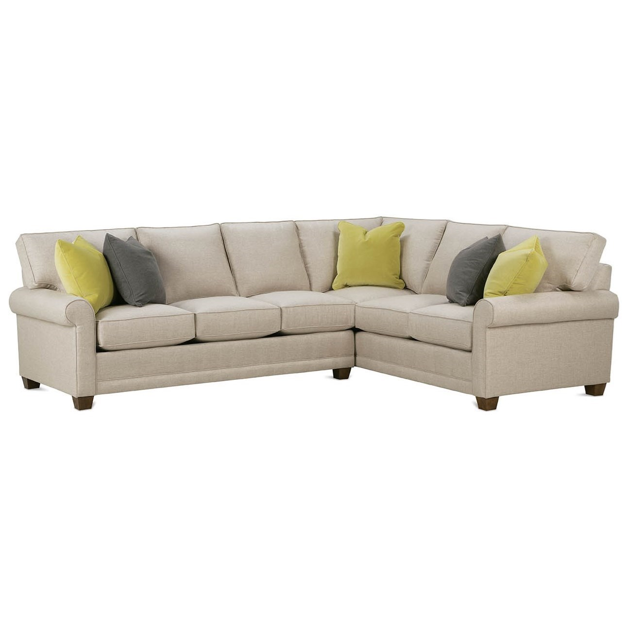 Rowe My Style I Customizable Sectional Sofa With Rolled