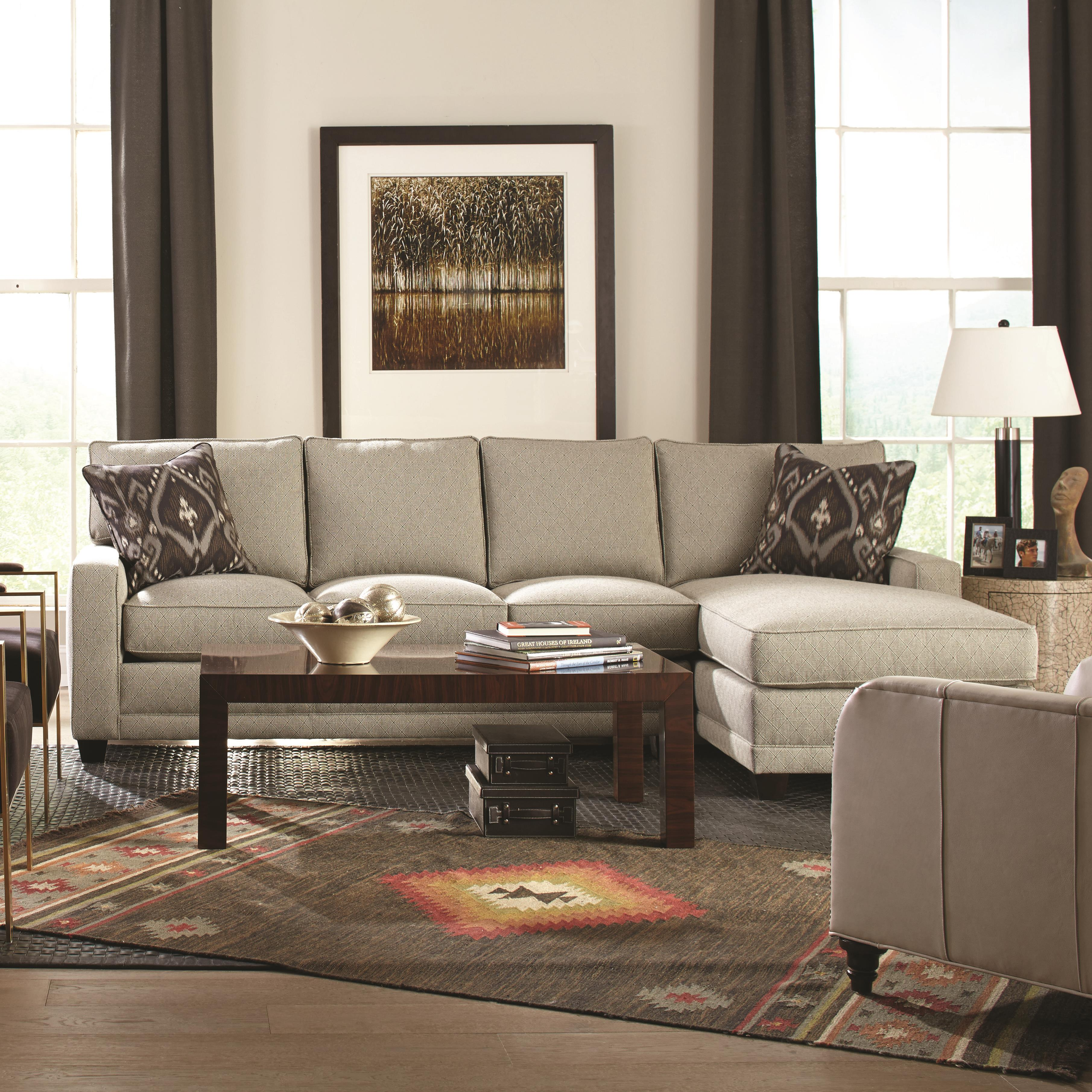 Rowe My Style Contemporary Sectional Sofa with Chaise - Item Number: BT200-B-116+111-44679-08