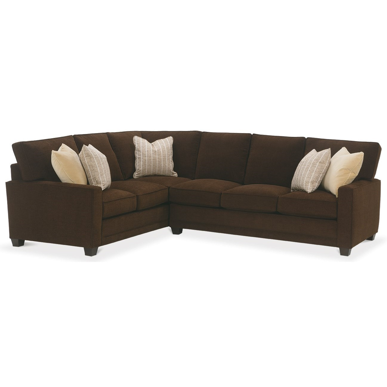 My Style I Custom Sectional Sofa by Rowe at Baer's Furniture