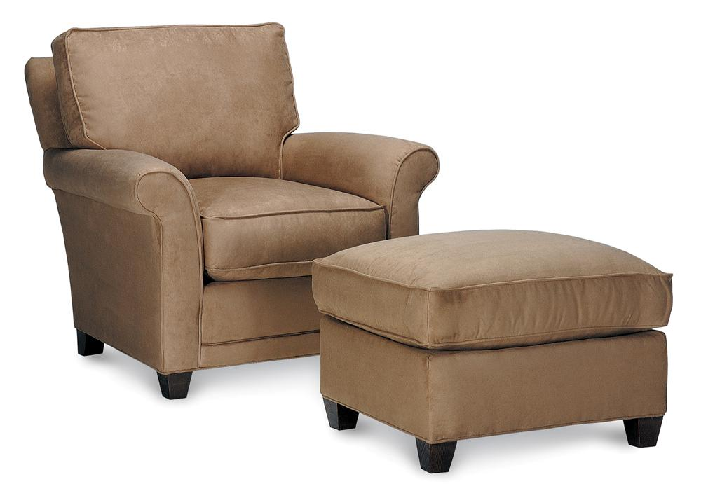 Chairs And Accents Mayflower Highback Chair And Ottoman By Rowe