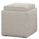 Rowe Chairs and Accents Nelson Storage Ottoman - Item Number: F50-000