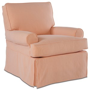 Rowe Chairs and Accents Sophie Large Swivel Glider with Slipcover
