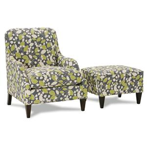 Rowe Chairs and Accents Laine Chair and Ottoman