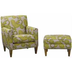 Rowe Chairs and Accents Willet Chair and Ottoman